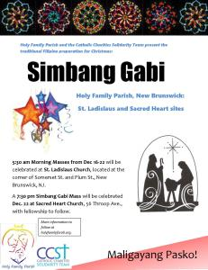 Simbang Gabi flyer