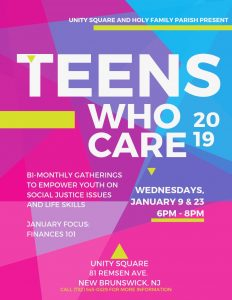 Teens Who Care at Unity Square Community Center
