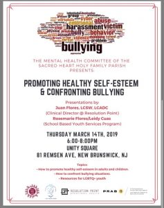 Promoting Healthy Self-Esteem and Confronting Bullying @ Unity Square
