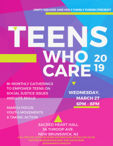 Teens Who Care @ Sacred Heart Church- Church Hall