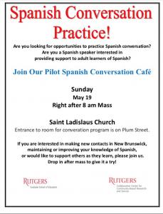 Spanish Conversation Practice! @ Saint Ladislaus Church- Church Hall