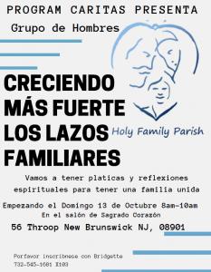 El Grupo de Hombres: Creciendo más Fuertes los Lazos Familiares @ Sacred Heart Church- Church Hall