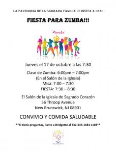 Zumba Bash / Fiesta Para Zumba @ Sacred Heart Church- Church Hall